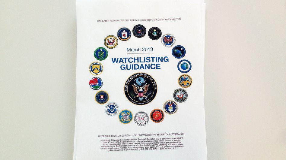 Leitlinien zum Erstellen der Terrordatenbank: Nicht als geheim eingestuft, aber bislang geheim gehalten
