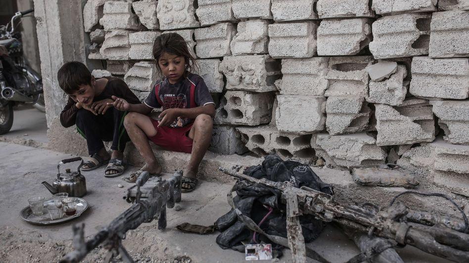 Kinder im syrischen Kobane