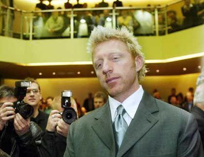 Becker bei seiner Ankunft im Gerichtssaal