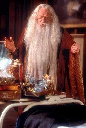 Richard Harris als Zauberer Dumbledore: Klar als Fantasy erkennbar