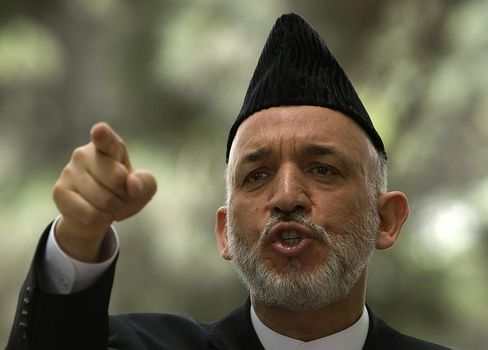 "Afghan President Hamid Karzai: ""A political fresh start would be desirable in Afghanistan."""
