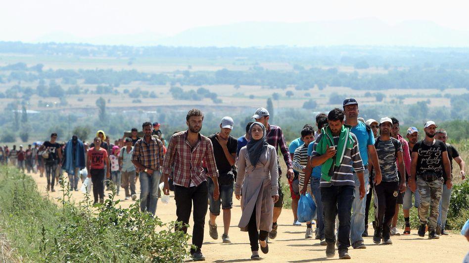Syrer auf der Balkanroute: Zahlen um 600 Prozent gestiegen