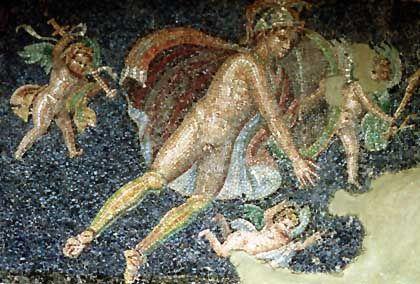 Restauriertes Mosaik aus Pompeji: Angebot an Prostitution war größer als die Nachfrage