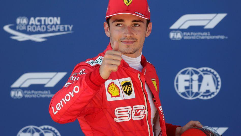 Charles Leclerc fährt seine erste Saison im Ferrari