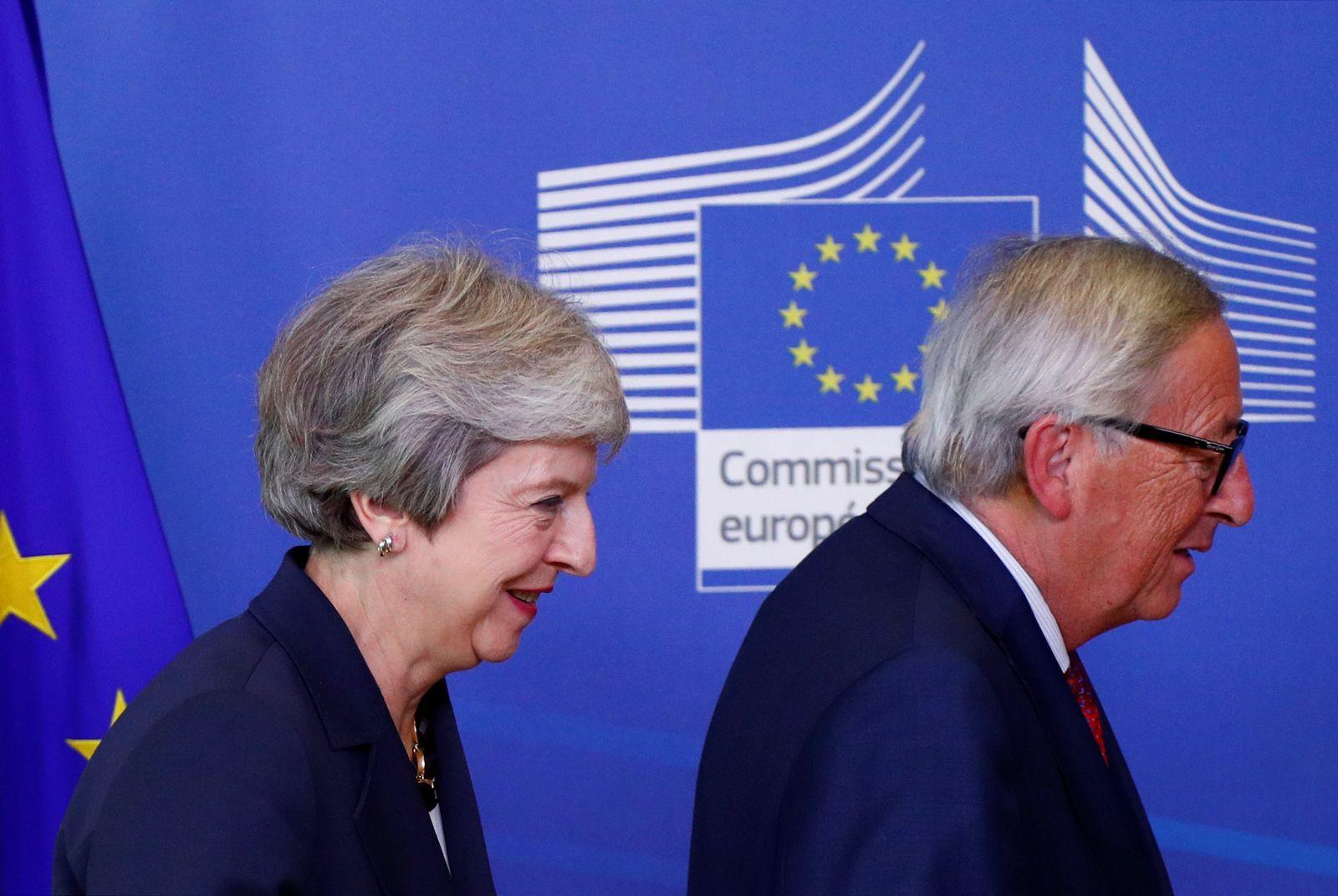 Theresa May Jean-Claude Juncker