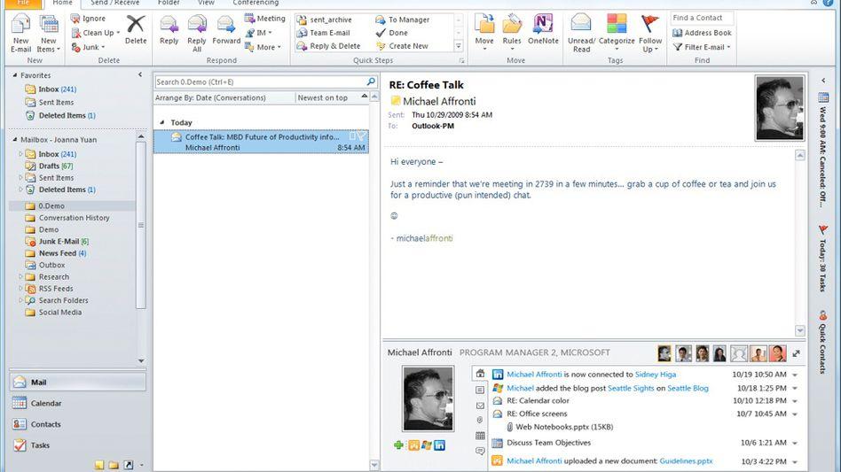 Social-Connect für Outlook: Microsoft verbindet soziale Netzwerke mit dem Mail-Client