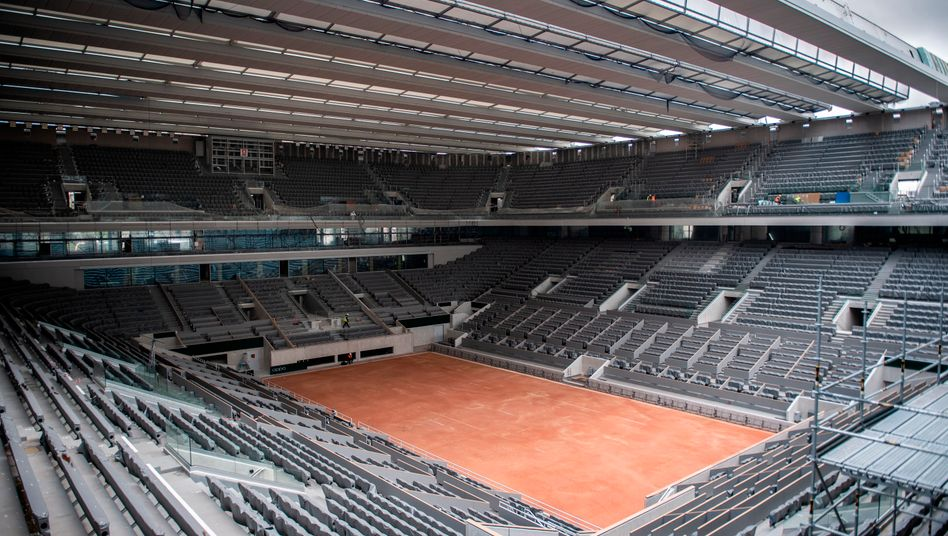 Der Center Court in Paris