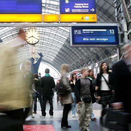 Hauptbahnhof Frankfurt am Main beim letzten Streik vergangenen Freitag: Sollte die Bahn nicht nachgeben, soll es an fünf Tagen Aktionen geben