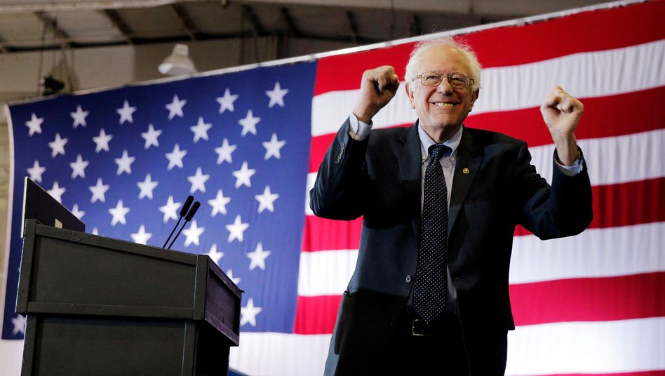 Demokratischer US-Präsidentschaftsbewerber Bernie Sanders