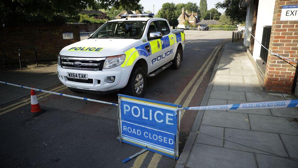 Polizeiauto in Salisbury