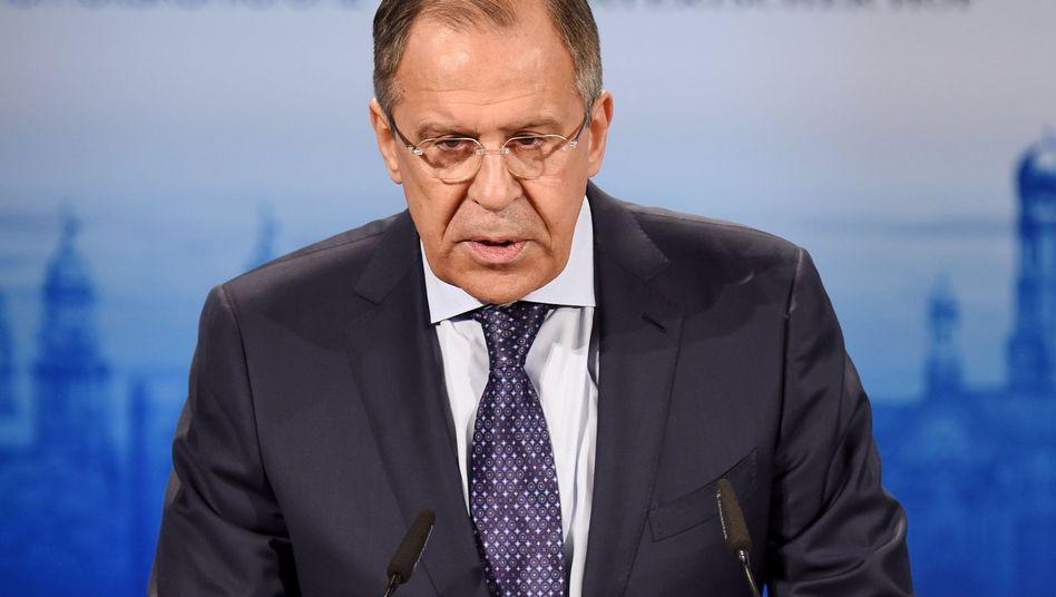 """Außenminister Lawrow: """"Keine Hinweise"""" auf getötete Zivilisten"""