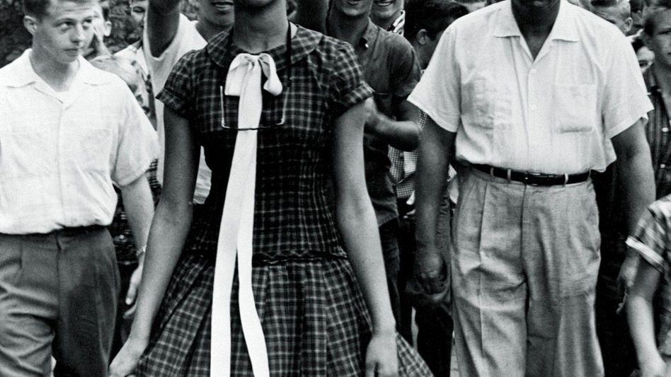 Schülerin Counts 1957: Egal was passiert, halte deinen Kopf hoch, hatte ihr Vater ihr gesagt