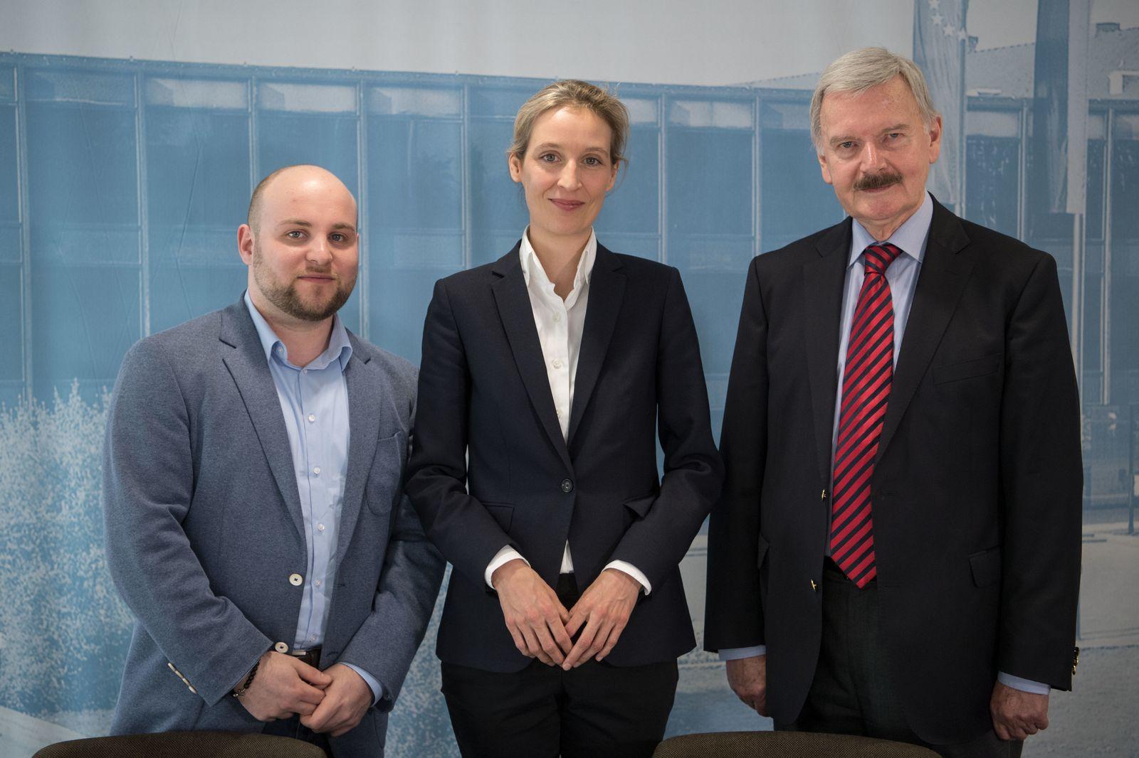 EINMALIGE VERWENDUNG Markus Frohnmaier und Alice Weidel