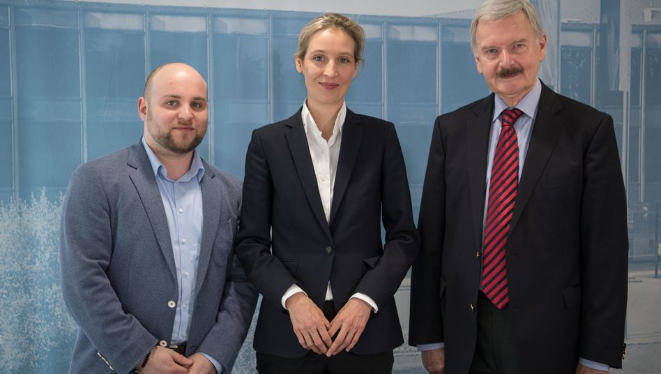 AfD-Abgeordneter im Bundestag, Markus Frohnmaier, AfD-Fraktionschefin Alice Weidel
