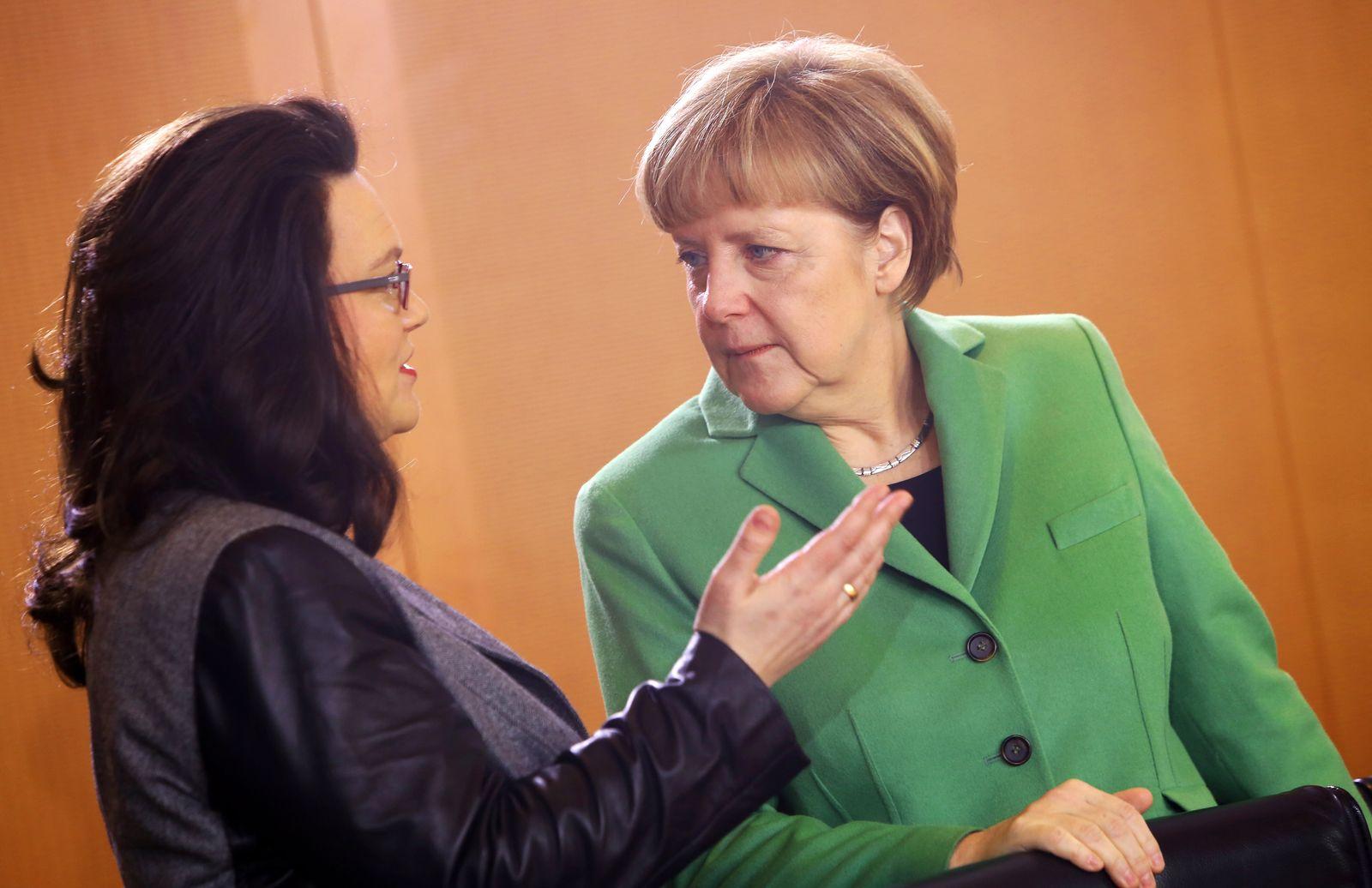 Nahles Merkel