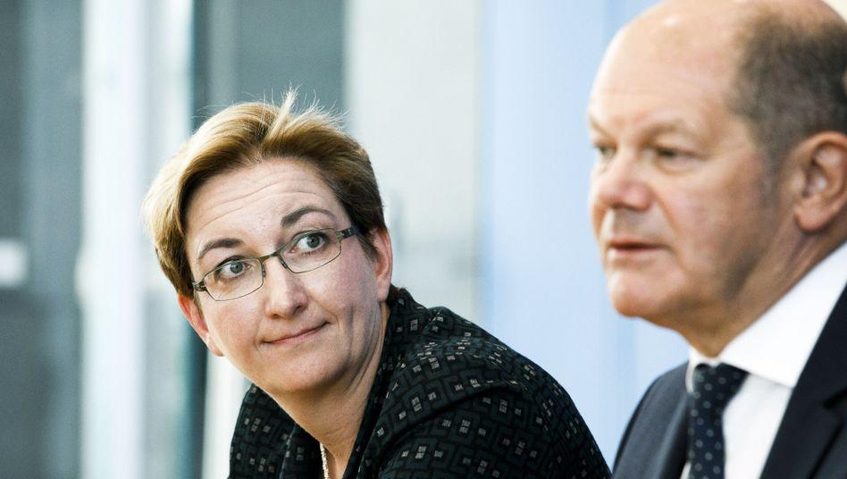 Klara Geywitz und Olaf Scholz wollen gemeinsam an die Spitze der SPD