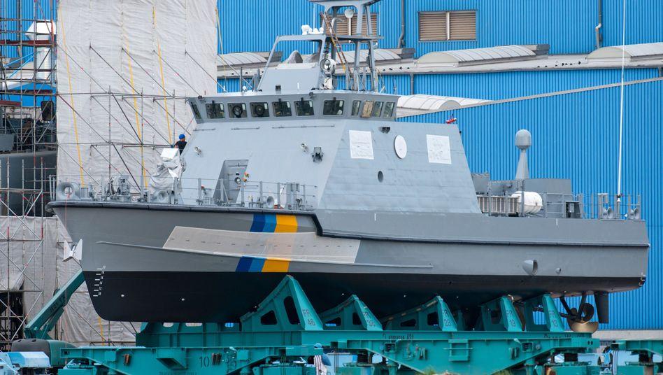 Küstenwachboot in Wolgast