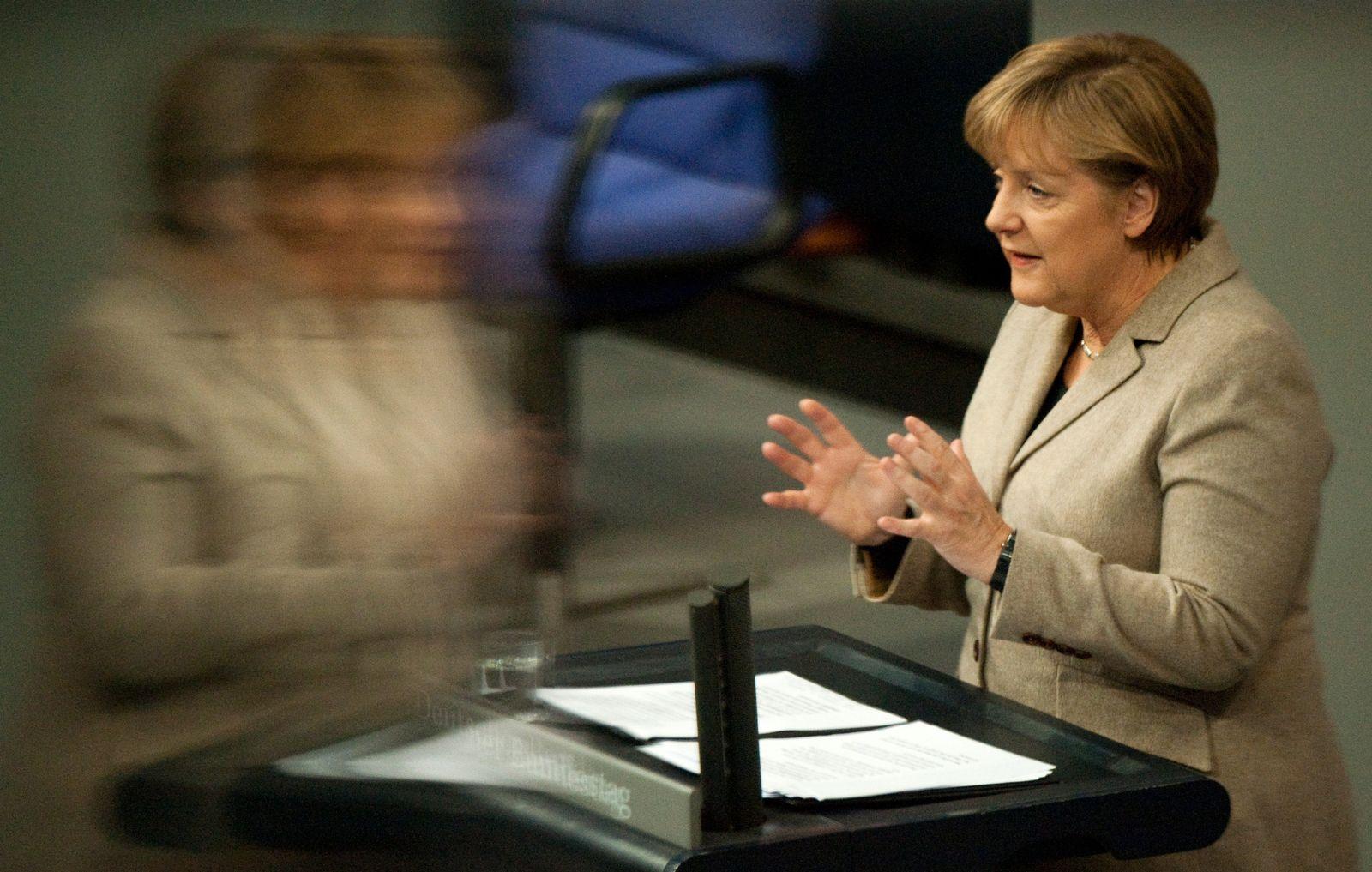 Merkel in der Bundestag