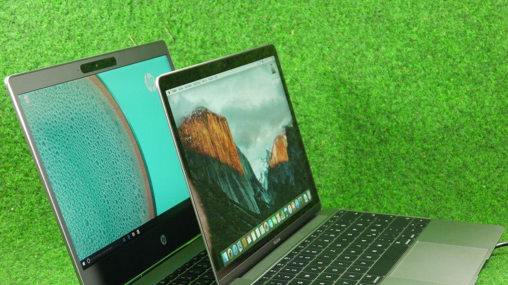 Ultraflache Notebooks: Apple Macbook vs. HP Elitebook