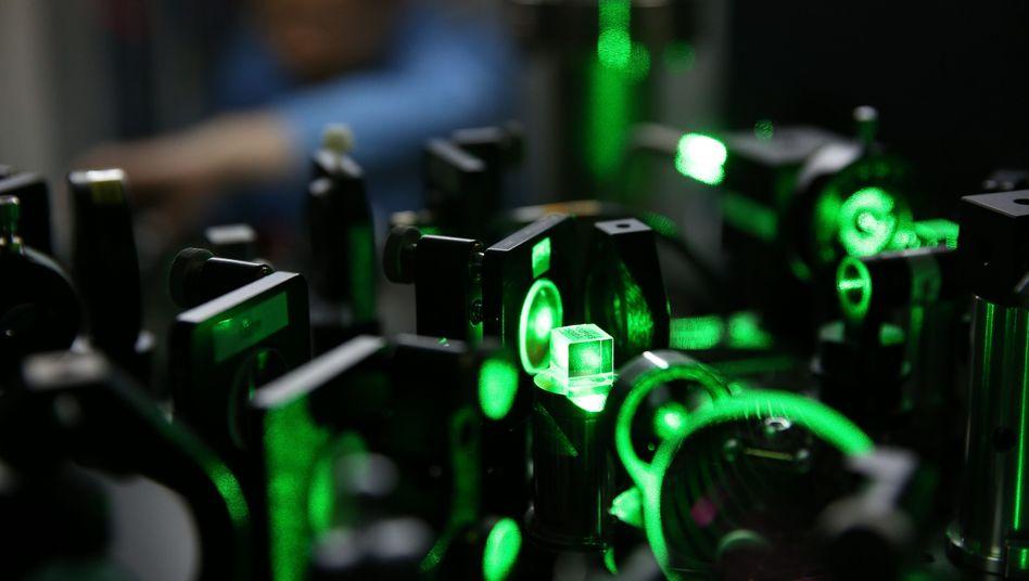 Quanten-Experiment in Shanghai (Archivbild): Mit Licht Informationen senden