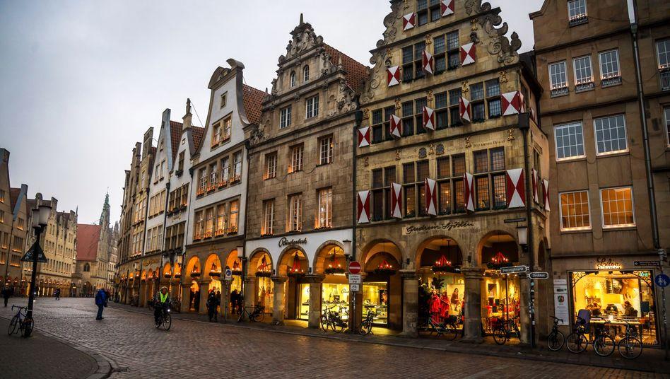Prinzipalmarkt in Münster: Nun droht auch dem Einzelhandel die Schließung