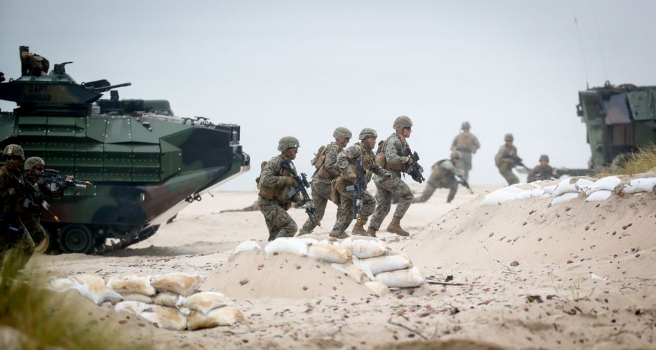 American troops in Poland as part of a joint NATO exercise in June