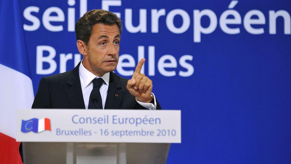 Frankreichs Präsident Sarkozy: Eklat beim EU-Gipfel