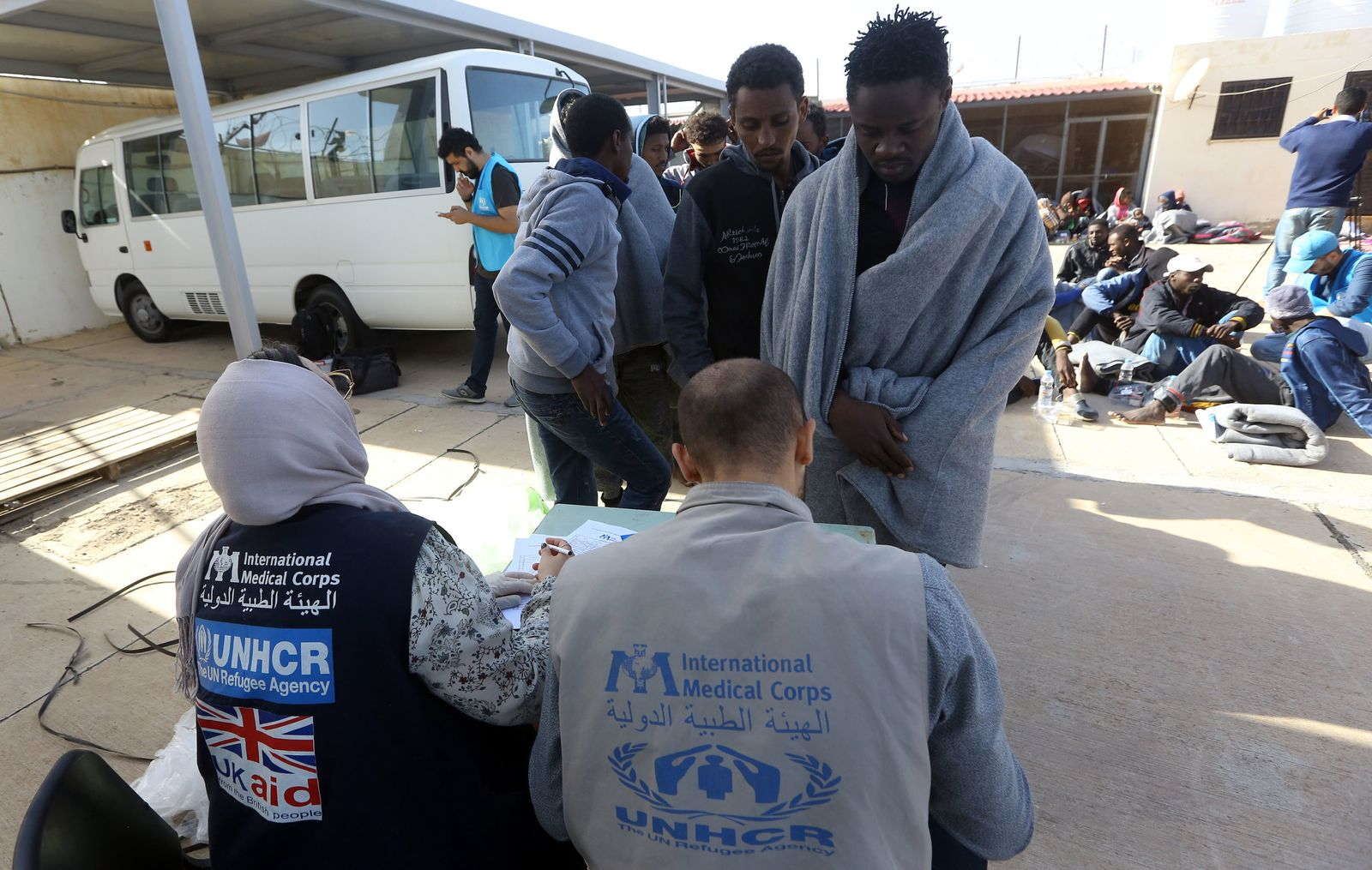 Illegale Flüchtlinge in Libyen