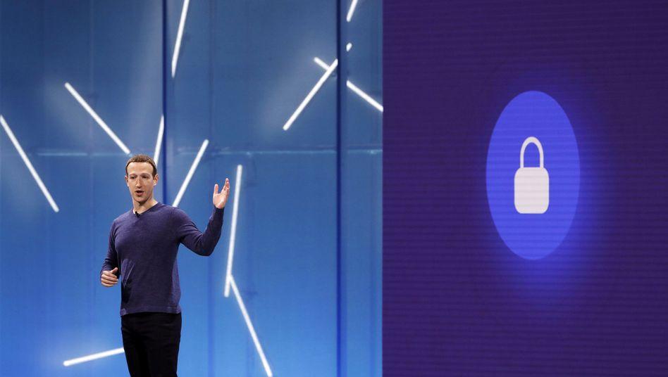 Mark Zuckerberg auf der Konferenz F8