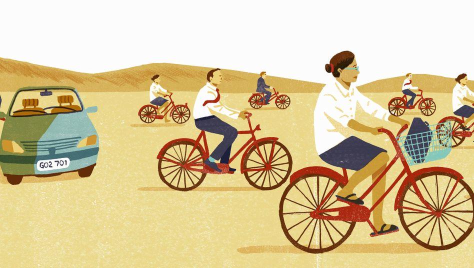 Fahrrad statt Auto - lohnt sich das fürs Klima?