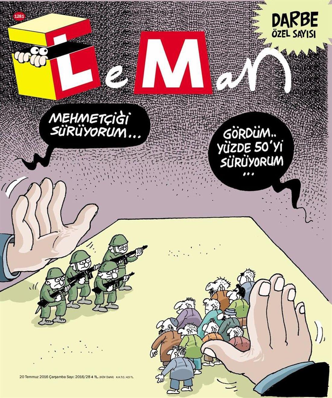 EINMALIGE VERWENDUNG Türkei/ Satire/ Leman COVER