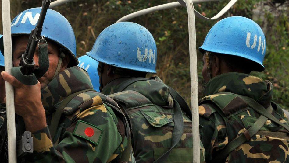 UN-Blauhelme (Archivbild): Einsatz am Unoci-Hauptquartier in der Elfenbeinküste