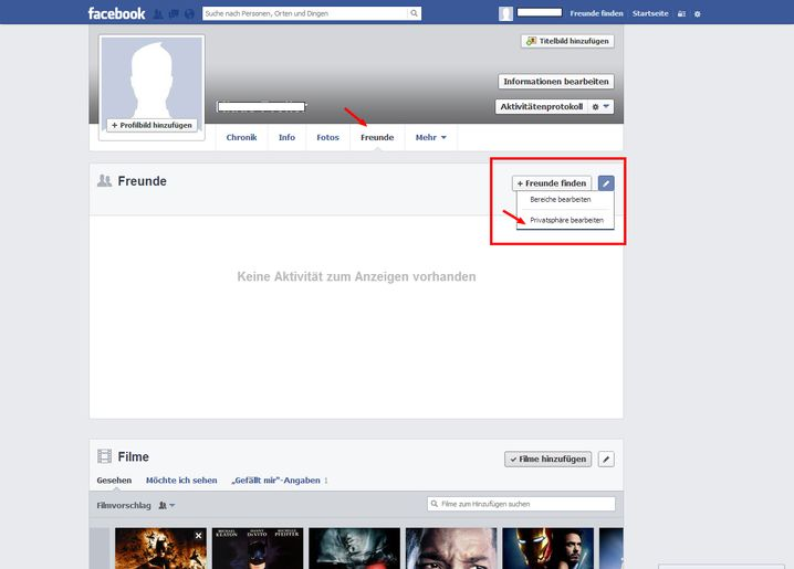 Freundesliste: Die Privatsphäreeinstellungen sind nach drei Klicks abrufbar