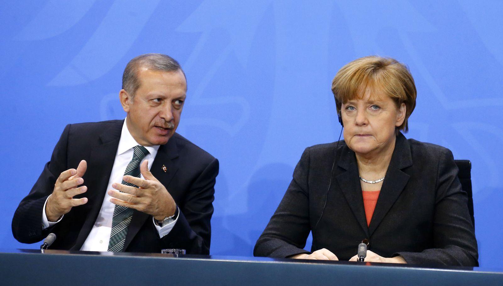 Tayyip Erdogan/ Angela Merkel