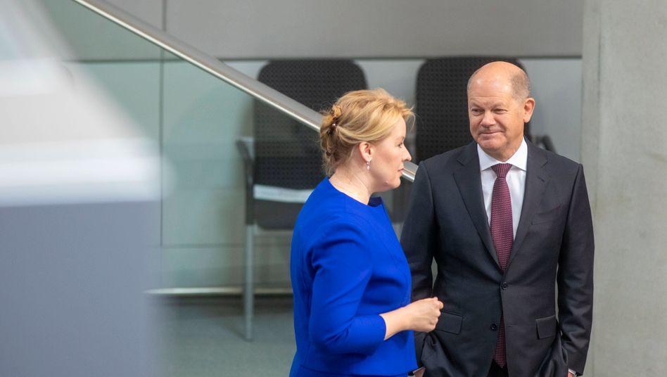 Familienministerin Giffey, Vizekanzler Scholz