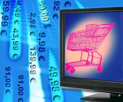 Einkauf am Rechner: Beim Online-Einkauf hat der Verbraucher online mehr Rechte als offline