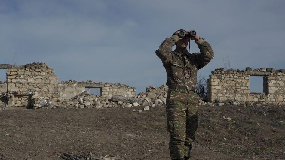 Armenischer Soldat (Foto aus dem Januar 2021)