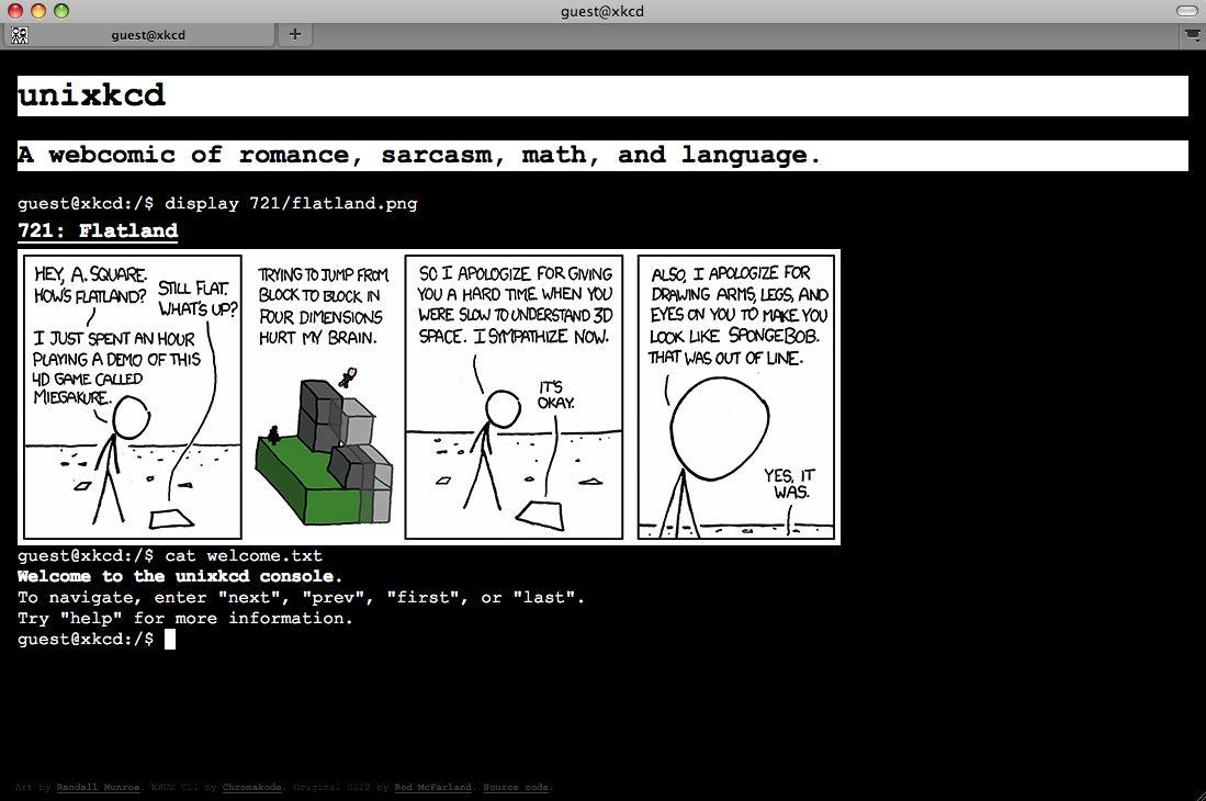 SCREENSHOT Unixkcd