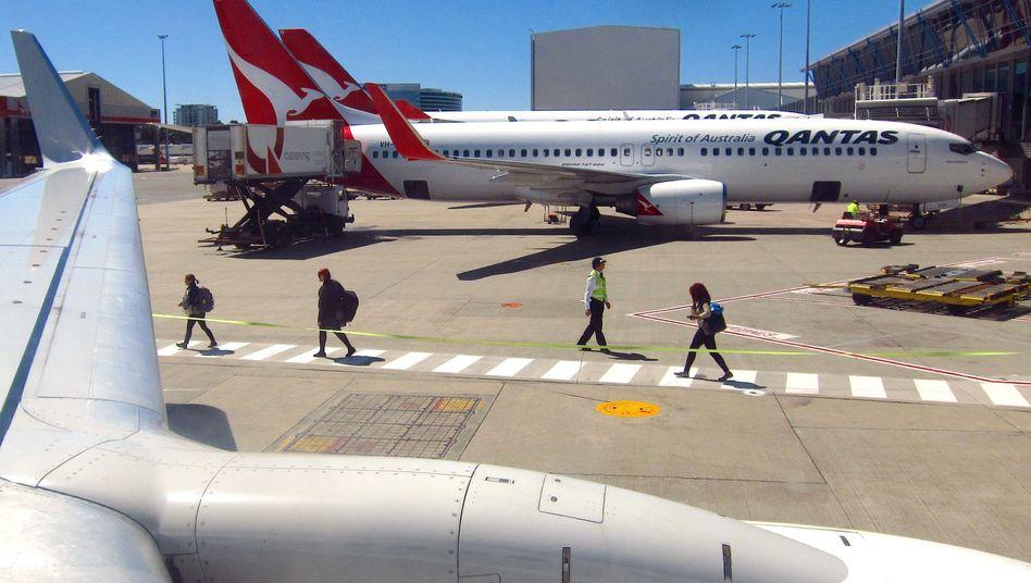 Flugzeuge von Qantas in Sydney (Archivbild)