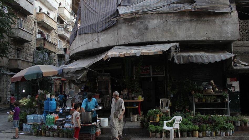 Marktstand im Osten Aleppos