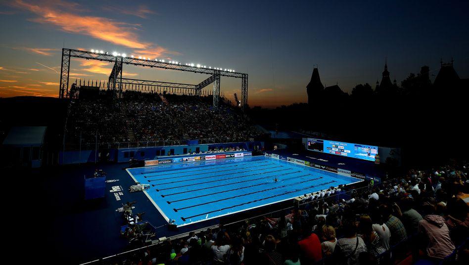 WM-Schwimmbecken in Budapest