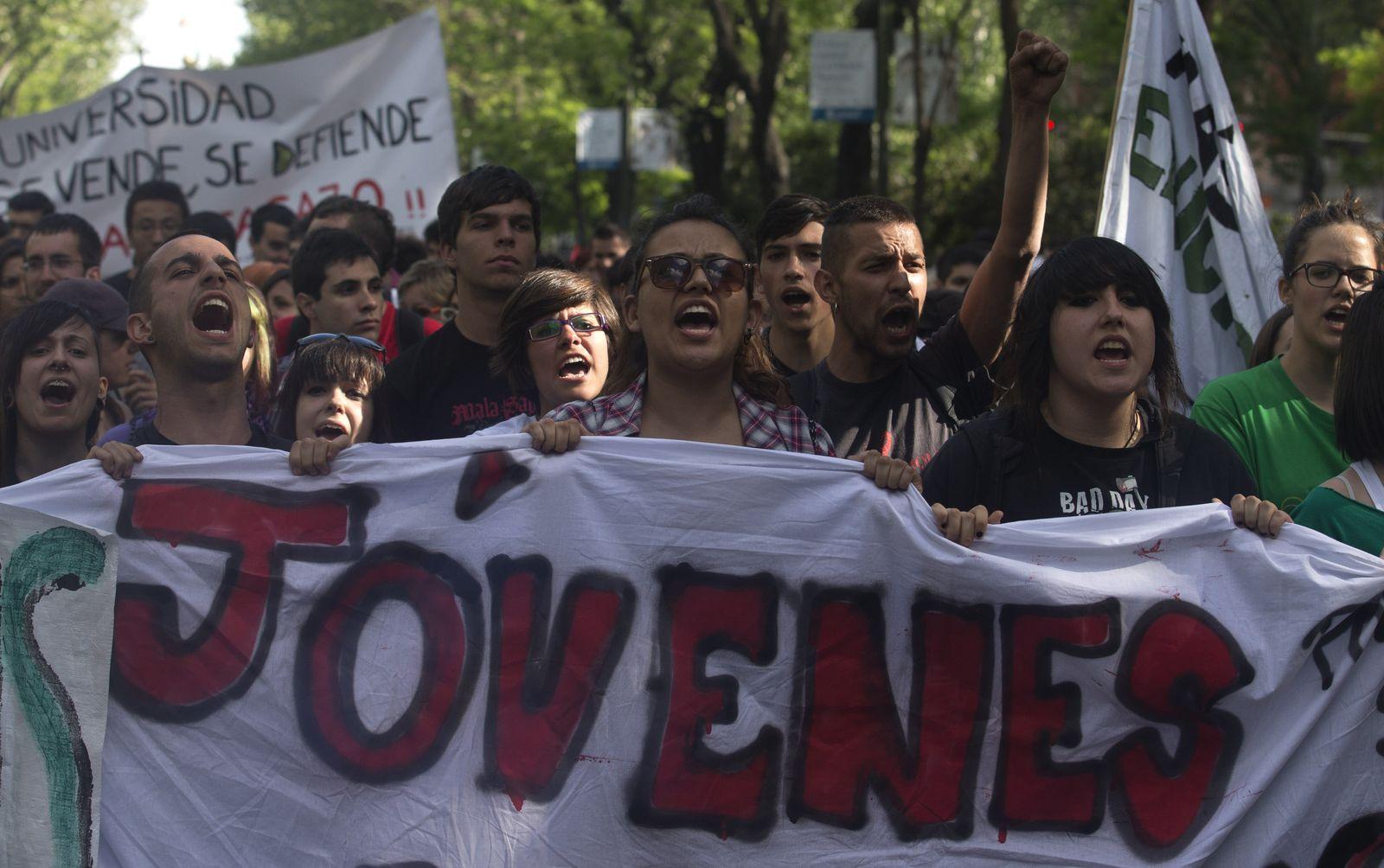 Spain Financial Crisis jugend proteste spanien