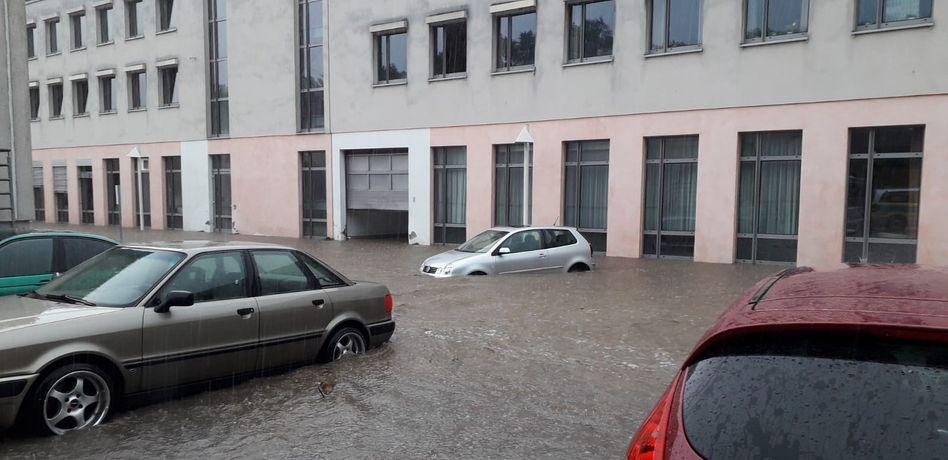 Fröndenberg in Nordrhein-Westfalen wurde von den Unwettern am Sonntag und in der Nacht zum Montag besonders stark getroffen