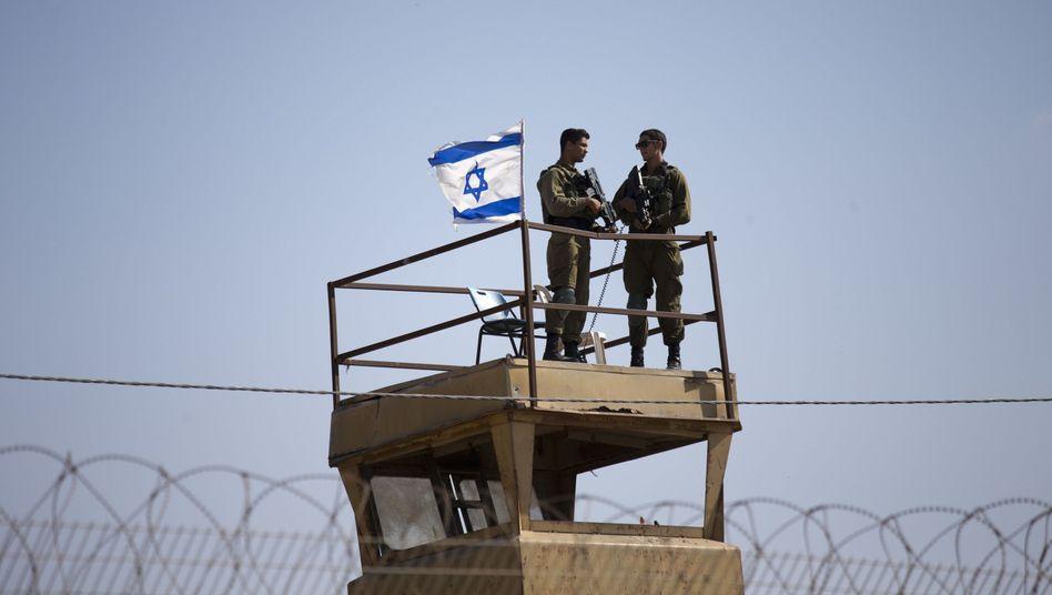 Israelische Soldaten am Gazastreifen