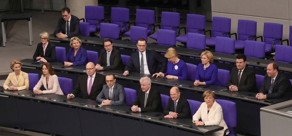 Die Mitglieder des neuen Bundeskabinetts