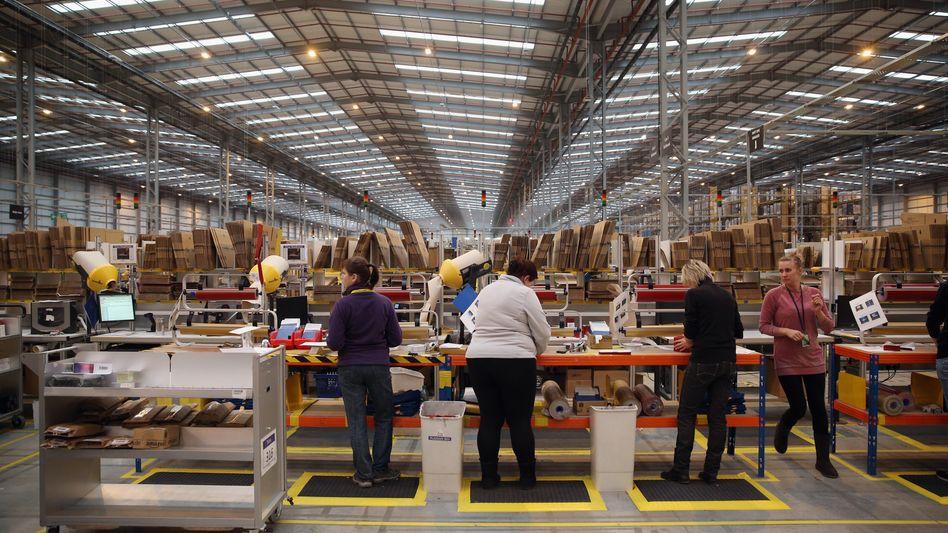 Amazon-Lager in Großbritannien