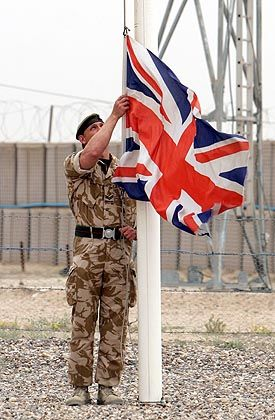 The British Army has pulled out of Basra.