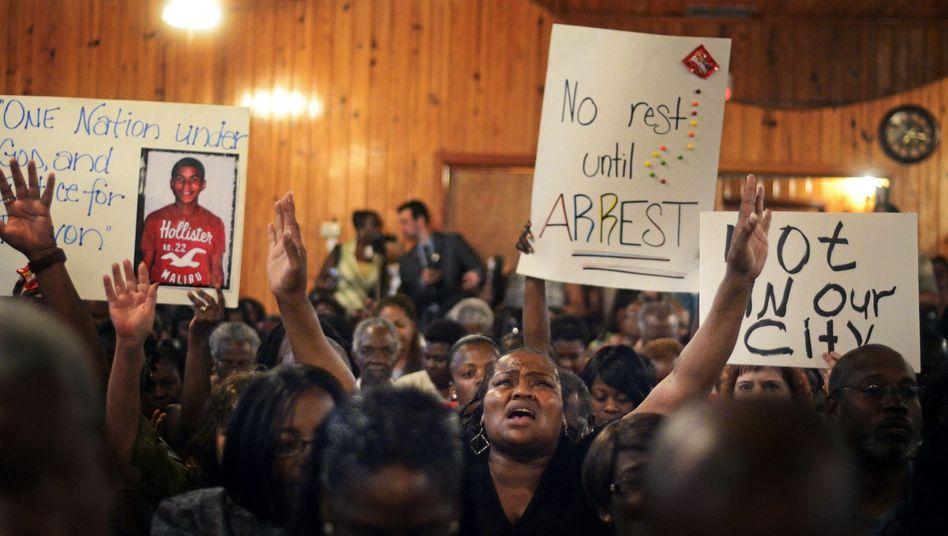Solidaritätskundgebung nach dem Tod von Trayvon Martin in Florida, 2012