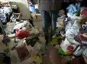 Chaos in einer Messie-Wohnung
