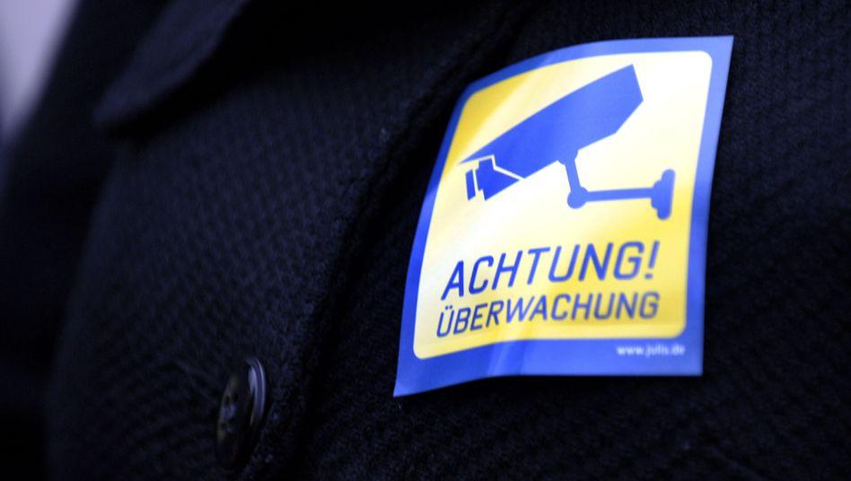 Protest gegen Vorratsdatenspeicherung: Videokameras sind dagegen noch harmlos